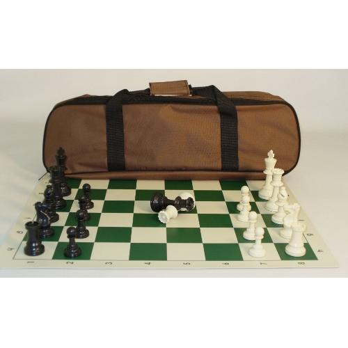 CNChess Tournament Chess Set with Black Canvass Tote Bag