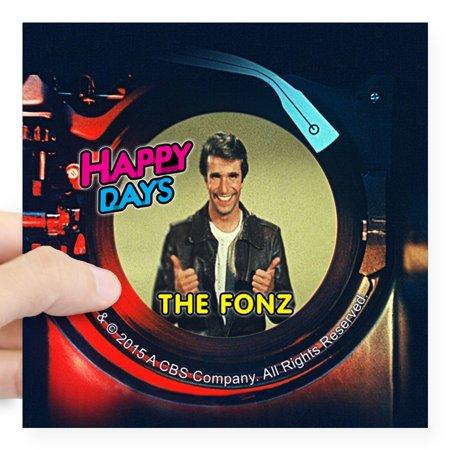 CafePress - Happy Days Jukebox Fonz Square Sticker 3