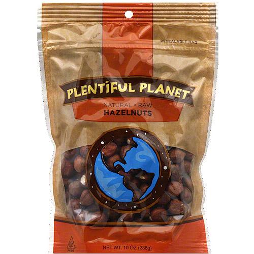 Plentiful Planet Raw Hazelnuts, 10 oz, (Pack of 6) by