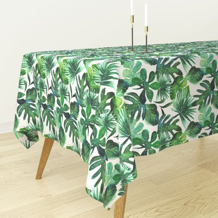 Tablecloth Monstera Palm Jungle Baby Botanical Tropical Leaves Cotton Sateen](Tropical Tablecloth)