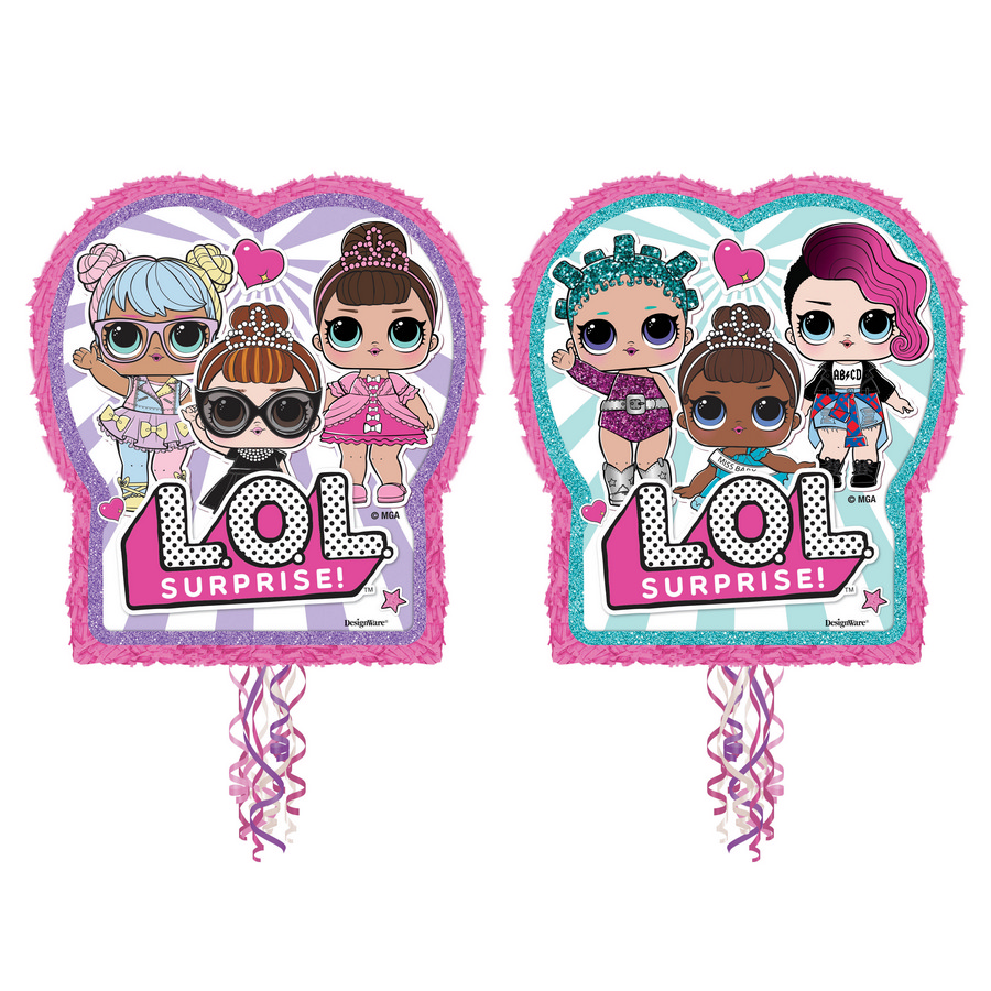 LOL Surprise Pinata, Pull String, 2-Pack