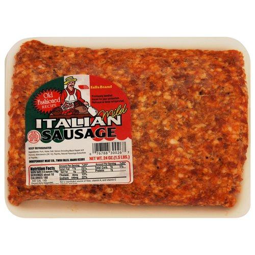 Falls Brand Ground Mild Italian Sausage, 24 oz