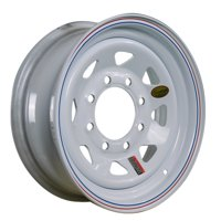 "ArcWheel White Spoke Steel Trailer Wheel - 16"" x 6"" Rim - 8 on 6.5"