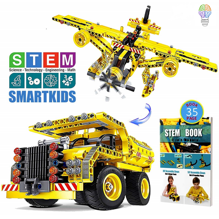Building Toys Gifts for Boys & Girls Age 6yr-12yr, Construction Engineering Kits for 7, 8, 9, 10 Year Old, Educational STEM Learning Sets for - Toys For Girls Age 9