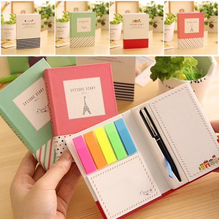 Creative Tower Hard Cover Notepad School Supplies Office Stationery Diary