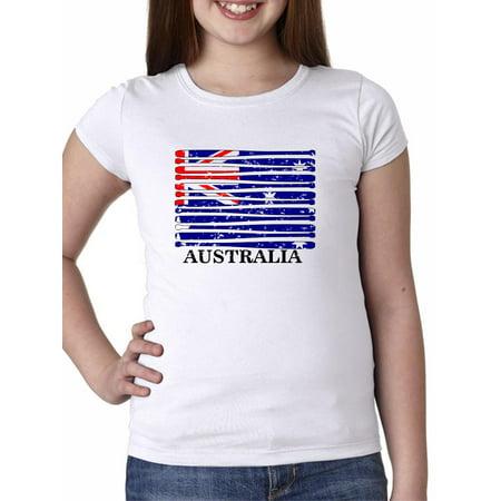 Octonauts Clothing Australia (Australia Baseball Classic - World Vintage Bats Flag Girl's Cotton Youth)