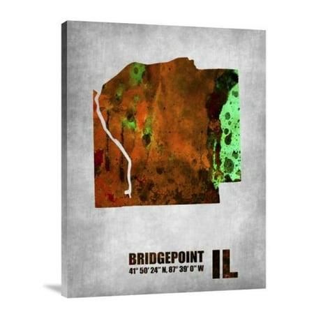 Naxart Bridgepoint Illinois Graphic Art Print On Canvas