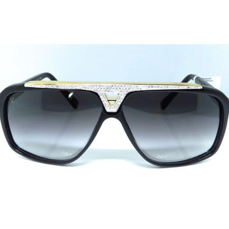 Louis Vuitton Louis Vuitton Diamond Aviator Sunglasses Evidence Black & Gold Z0350W 5.0 Ct.