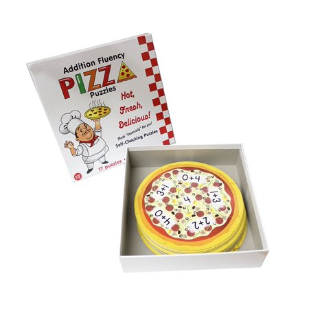 Addition Pizza Puzzle - Early Math - Early Childhood Teacher Supply - Math Supplies