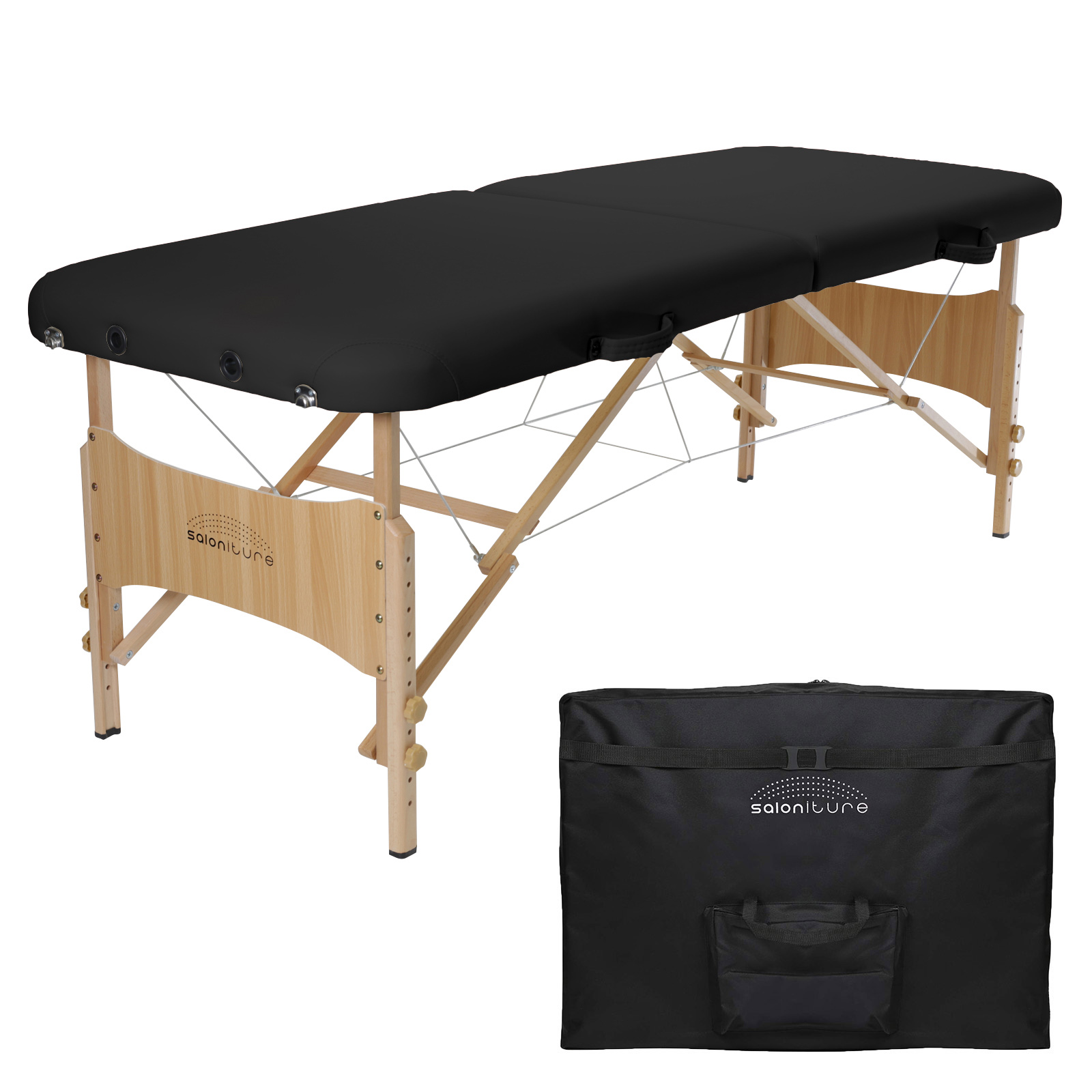 Saloniture Basic Portable Folding Massage Table - Multiple Colors Available
