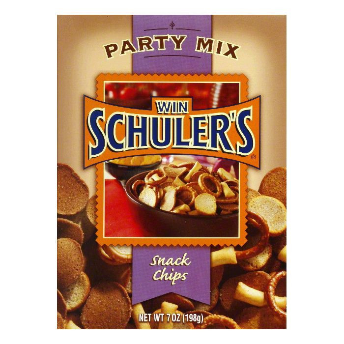 Win Schuler Party Mix Schips, 7 OZ (Pack of 12)