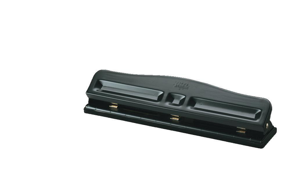 School Smart 3-Hole Semi-Adjustable Paper Punch, 12 SHeets, Black, Enamel by Ningbo G And W Imp And Exp Co LTD