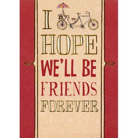 Designer Greetings Be Friends Forever Handmade Keepsake Valentine's Day