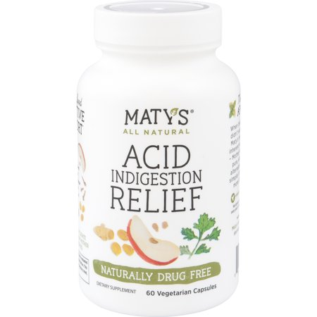 Maty's All Natural Acid Indigestion Relief Caps, 60 Vegetarian (Flow 60 Caps)