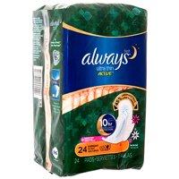 New 385287 Always 24Ct Active Overnight Ultra Thin Wwings (6-Pack) Feminine Hygiene Cheap Wholesale Discount Bulk Health And Beauty Feminine Hygiene All Purpose