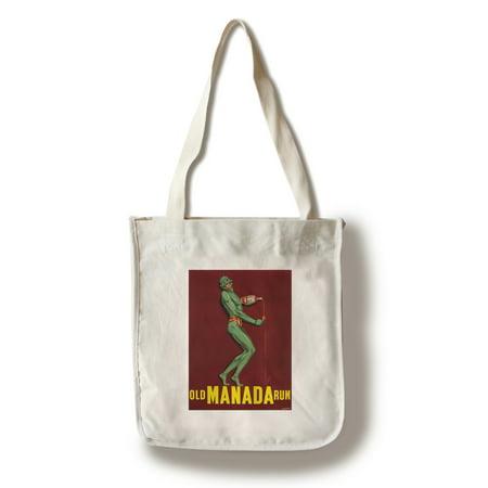 Old Manada Rum Vintage Poster France (100% Cotton Tote Bag - Reusable)