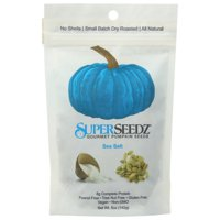 Superseedz No Shell Pumpkin Seeds, Sea Salt, 5 Oz, Pack Of 6
