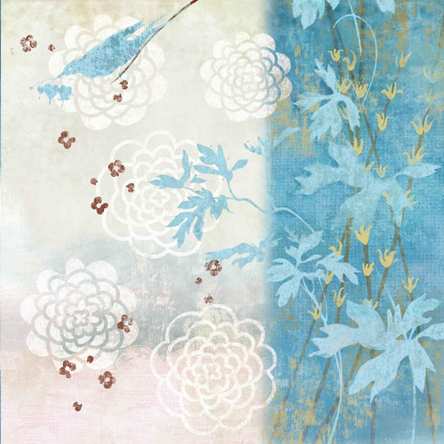 Marmont Hill 'Chrysanthemum Bird Ii' by Evelia Painting Print on Wrapped Canvas