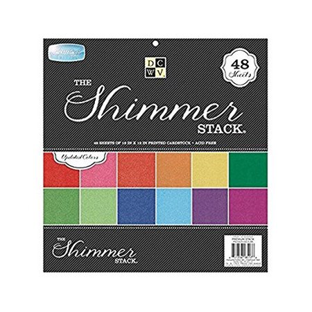 DCWV The Shimmer Stack Printed Cardstock Paper - 12 in x 12 in