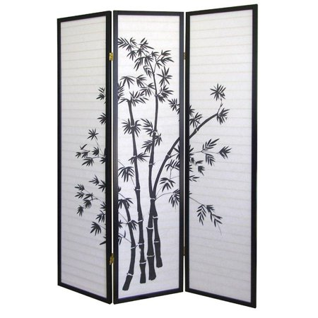 Legacy Decor 3 Panel Room Divider Privacy Screen Asian Style Bamboo Design