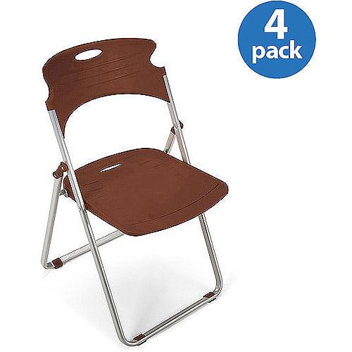 OFM Plastic Folding Chair, Set of 4, Multiple Colors