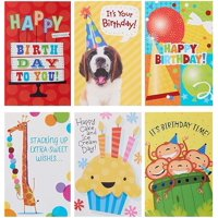 American Greetings 12 Count Birthday Cards and White Envelopes, Assorted Bright