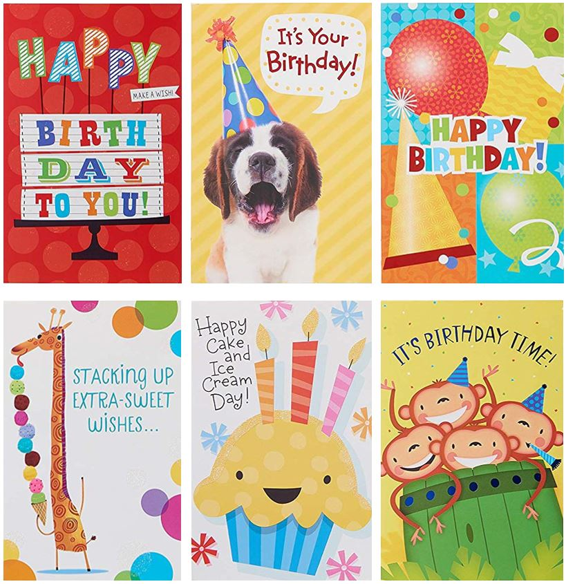American Greetings Assorted Bright Birthday Cards, 12ct