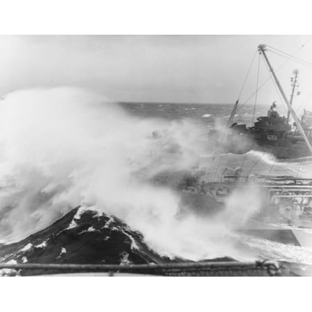 Navy Aircraft Carrier - LAMINATED POSTER Carrier Raids in the East China Sea, January 1945: The U.S. Navy aircraft carrier USS Essex (CV-9) a Poster Print 24 x 36