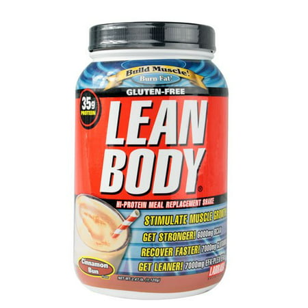 Labrada Lean Body Hi-Protein Meal Replacement Shake Cinnamon Bun 2.47 Pound