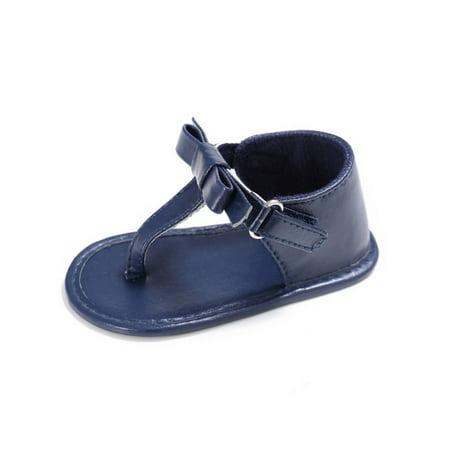 6d9e05a36975 Esho - Infant Girl Sandal Crib Shoes Anti-slip Flip Flop Prewalker Shoes -  Walmart.com