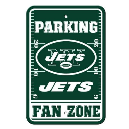 Fremont Die Inc New York Jets Plastic Parking Sign   Fan Zone Plastic Parking Sign   Fan Zone