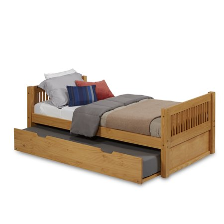 Camaflexi Twin Size Platform Bed With Twin Trundle