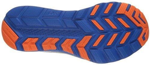 Saucony Men's Kinvara 8 Running Shoe, Grey/Blue/Orange, 6 UK/7 M US