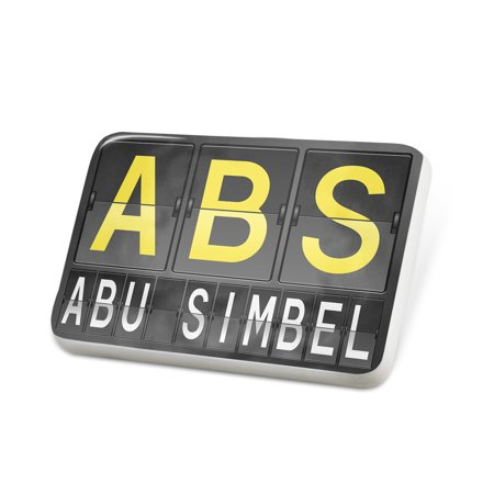 Porcelein Pin ABS Airport Code for Abu Simbel Lapel Badge – NEONBLOND