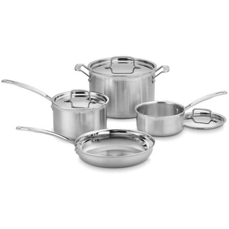 Cuisinart MultiClad Pro Triple Ply Stainless 7-Piece Cookware Set