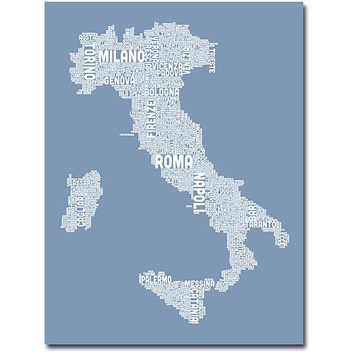 "Trademark Art ""Italy in Blue"" Canvas Wall Art by Michael Tompsett"