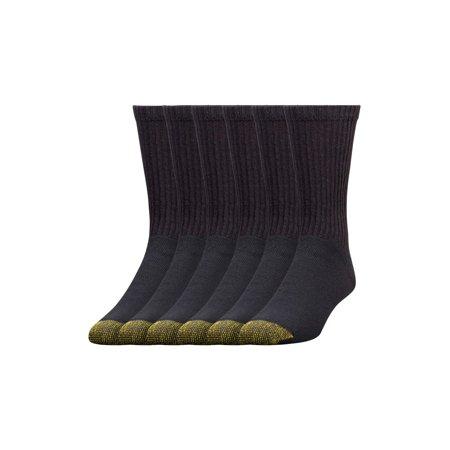 Gold Toe Men's Full Cushion Cotton Crew Socks, 6 Pairs - Monk Clothes
