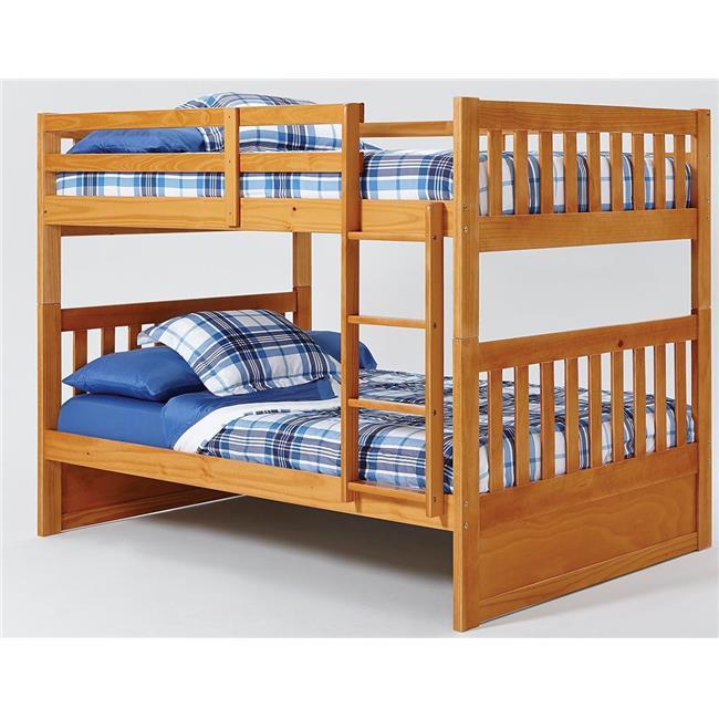 Chelsea Home Furniture 36FF700 Full Over Full Mission Bunk Bed, Honey
