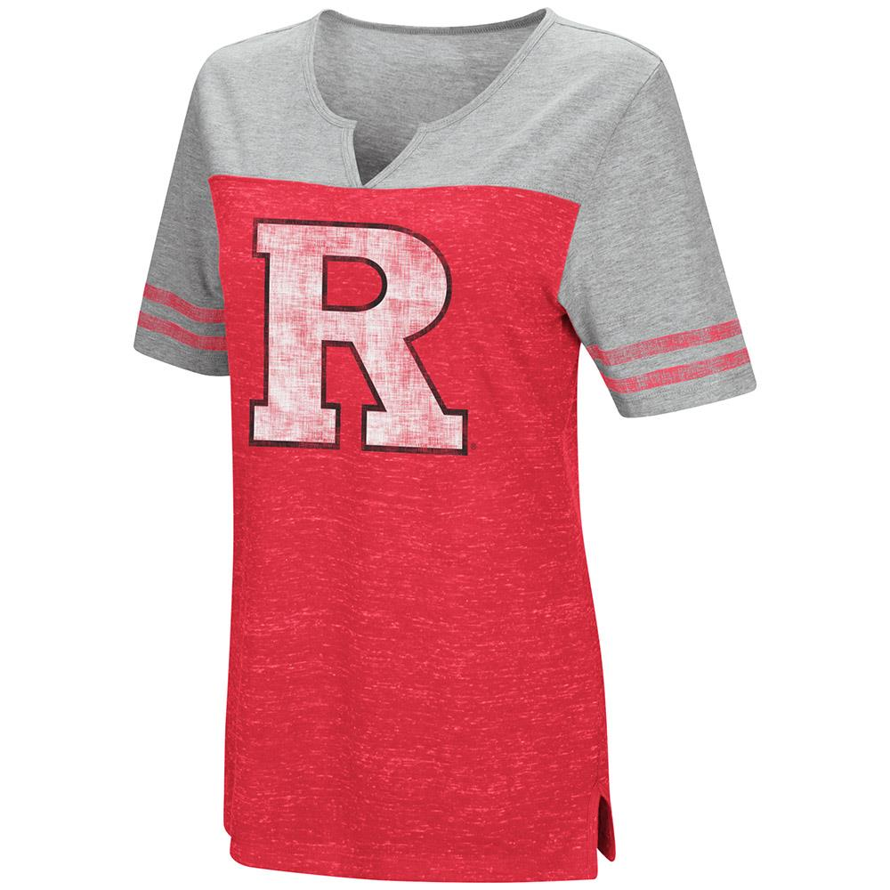Womens Rutgers Scarlet Knights V-Neck Tee Shirt - S