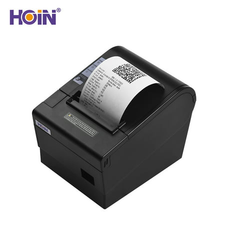HOIN 80mm Thermal Receipt Printer with Auto Cutter USB Ethernet Interface  Ticket Bill printing Compatible with ESC/POS Print Commands for Supermarket