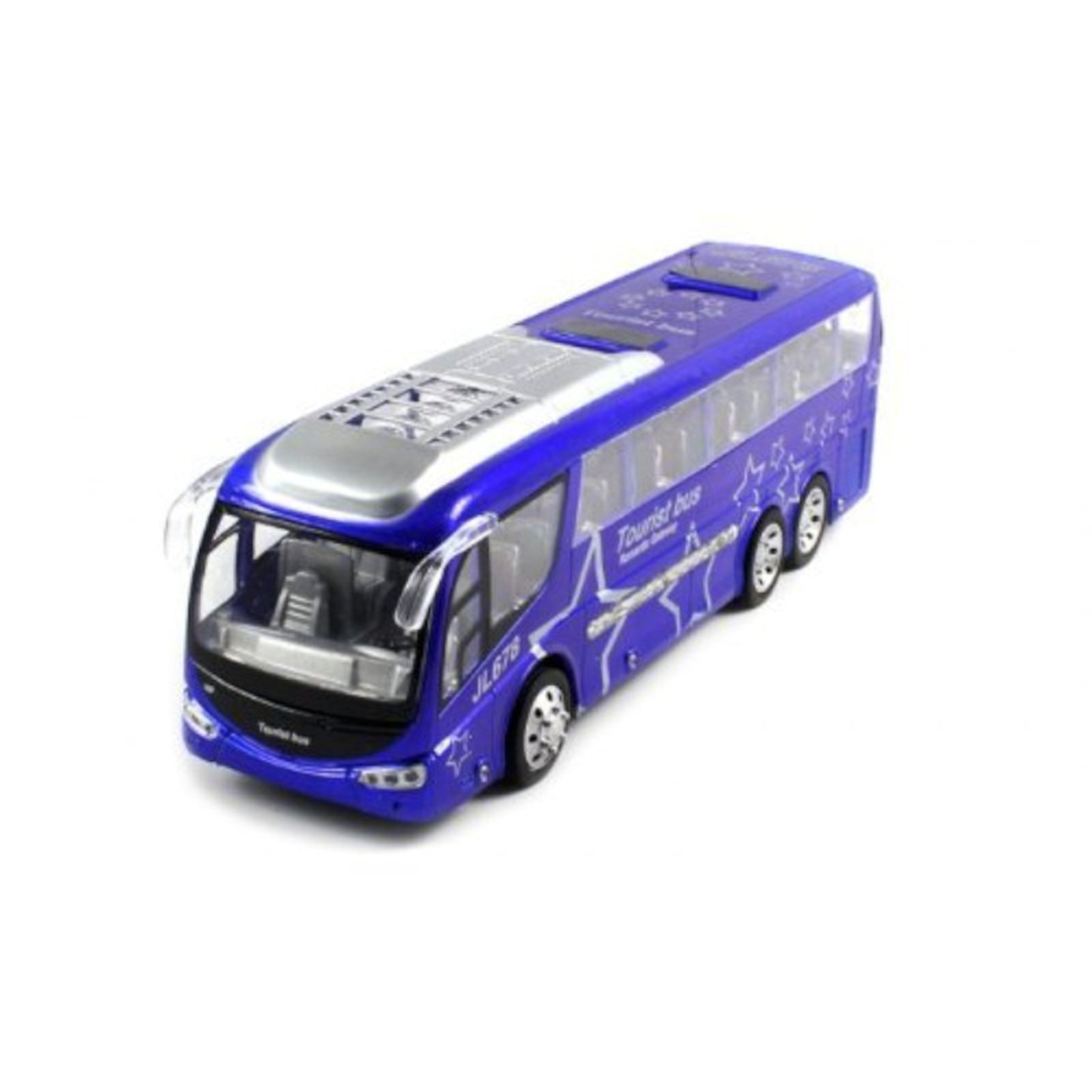 Ultimate Passenger Tourist Vacation Electric RC Bus Car 1:48 RTR Radio Control - Blue (Christmas Gift Idea)