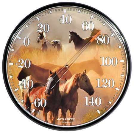 Image of AcuRite Galloping Horses Indoor/Outdoor Thermometer 01921