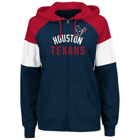 Majestic Hat (Houston Texans Majestic Women's Hot Route Full-Zip Hoodie -)