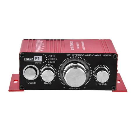 Sonew Mini 12V 2 Channel HiFi Stereo Bass Audio Power Amplifier
