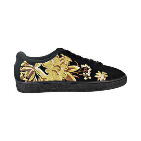 Puma Suede Hyper Emb Women's Shoes Puma Black/Puma Team Gold 368137-02 (Team Handball Shoes)