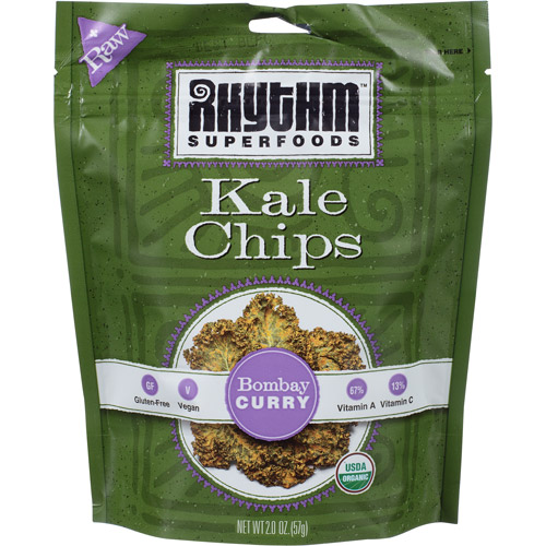 Rhythm Superfoods Bombay Curry Kale Chips, 2 oz, (Pack of, 12)