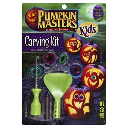 Pumpkin Masters 'Kids Pumpkin Carving Kit' 15 Piece Set](Easy Pumpkin Carving Halloween)