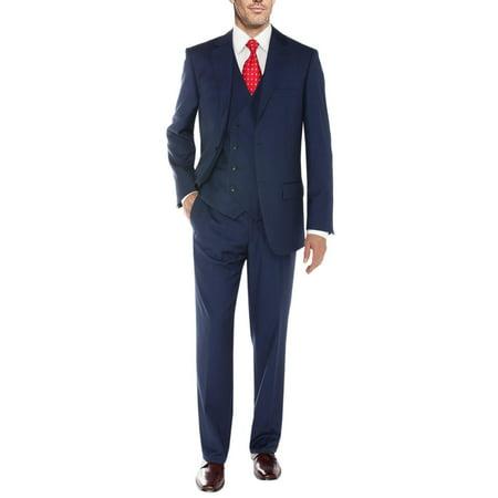 Chevy Blazer Vent - Salvatore Exte Men's Vested Suit 3 Piece 2 Button Blazer Vest Flat Front Pants French Blue