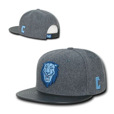 - Columbia University Lions Wool Flat Bill Snapback Baseball Cap Hat