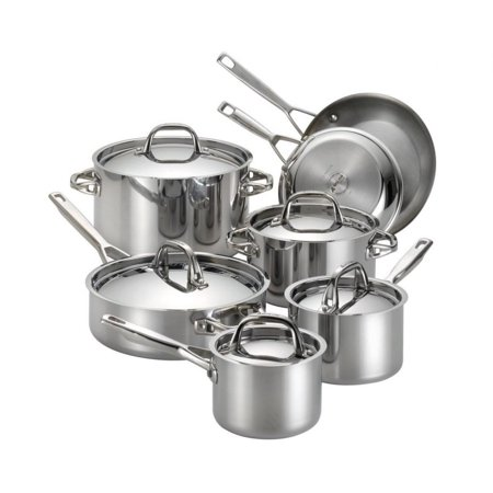 Anolon Tri-Ply Clad 12 Piece Cookware Set in Stainless Steel